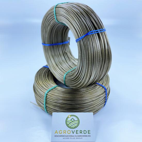 Cablu sufa otel, plastificat 3 mm, lungime 200m/rola