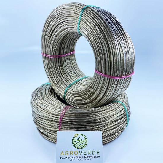Cablu sufa otel, plastificat  4 mm, lungime 200m/rola