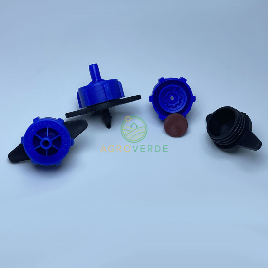 Duza albastra autocompensata 8L/h, pt. tub orb, Serdrip Turcia
