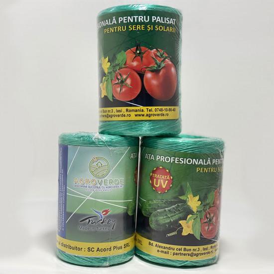 Ata de palisat legume, UV, Premium 500 g, 900 m, verde